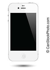 接觸, smartphone, 矢量, 屏幕