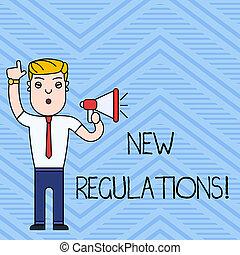 控制, 概念, 做, 政府, 規則, 正文, 寫, 意思, regulations., 某事, 新, 書法, done., 預訂