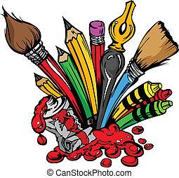 提供, 矢量, 藝術, 卡通