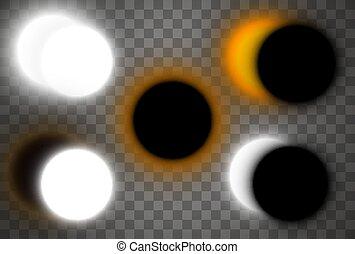 插圖, 太陽, 矢量, eclipse.