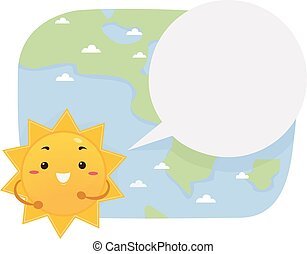 插圖, 演說, 太陽, 記者, 氣泡, 吉祥人