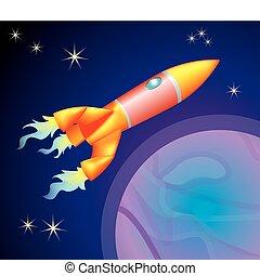 插圖, 火箭