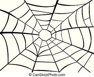 插圖, 矢量, 蜘蛛網