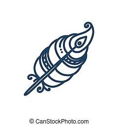 插圖, 种族, 部落, 羽毛, 被隔离, 背景。, 矢量, 白色, feather.
