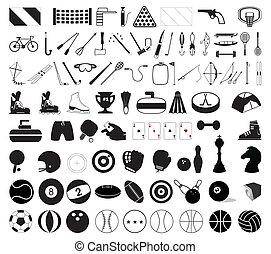 插圖, 運動, accessories., 矢量, 各種各樣, 彙整