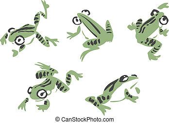 插圖, 青蛙