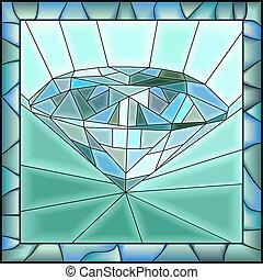 插圖, diamond., 馬賽克