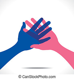 握手, 矢量, 加入, 或者, 手