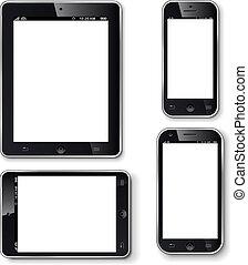 搬動電話, 屏幕, 小塊, 空白