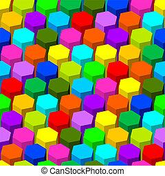 摘要, 六角形, pattern., seamless