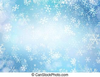 摘要, 冬天, 雪, 假期, 聖誕節, 背景, 背景。