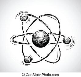 摘要, 原子