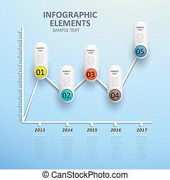 摘要, 圖表, 線, infographics