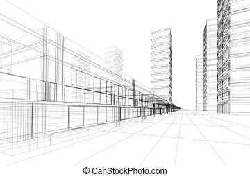 摘要, 建築學, 3d