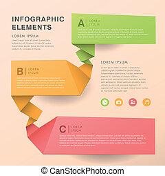 摘要, 旗幟, infographics