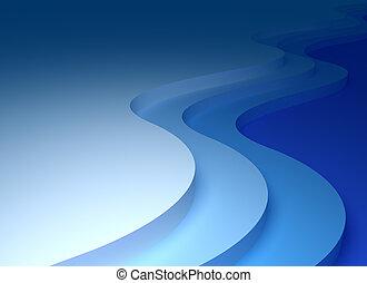 摘要, 波浪, 背景, 3d