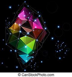 摘要, 空間, 設計, 技術, 三角形