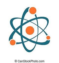 摘要, 簽署, 單個, 矢量, 原子, 圖象