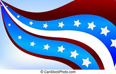 摘要, 背景, 旗, 美國