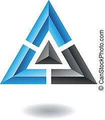 摘要, 金字塔, 三角形, 圖象
