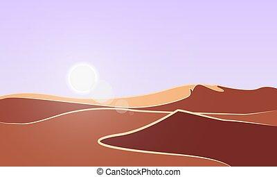 摘要, 陽光普照, 沙漠, 背景