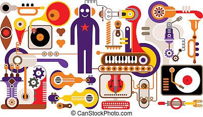 摘要, 音樂, 插圖