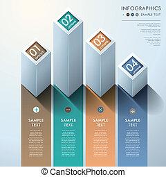 摘要, 3d, 條形圖, infographics