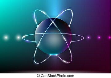 摘要, model., 原子