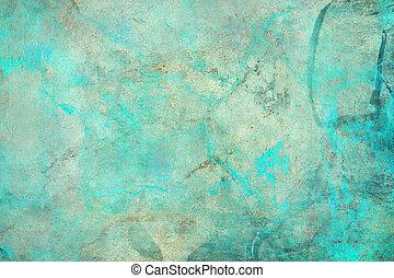 摘要, textured, grunge, 藍色