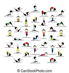 擺在, 人們, 瑜伽, 你, 實踐, 設計, 25
