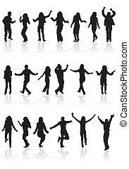 收集, 黑色半面畫像, 跳舞