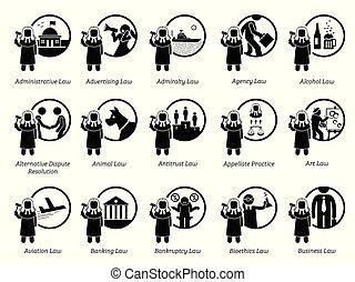 政府, 規則, icons., 規章, 法律, 類型