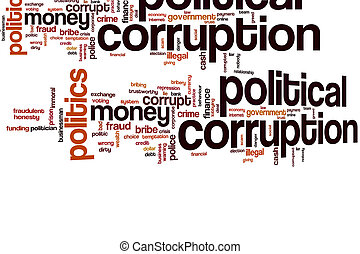 政治, 腐敗, 雲, 詞