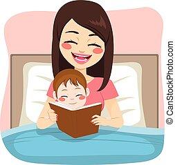 故事, 閱讀, 母親