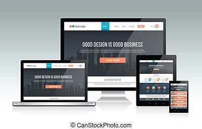 敏感, 網站, 設計