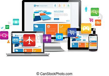 敏感, 設計, apps