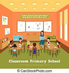 教室, 學校, 主要, 樣板