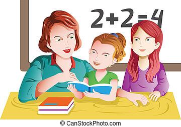 教室, 老師, 學生