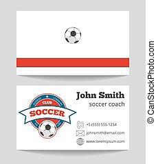 教練, 事務, 樣板, 標識語, 足球, 卡片