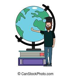 教育, 卡通, 人