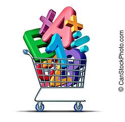 教育, 購物
