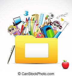 文件夾, 教育
