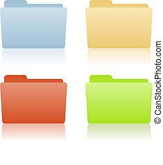 文件夾, 文件, 地方, 標簽