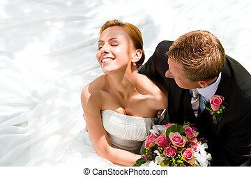 新娘, 夫婦, 新郎, -, 婚禮