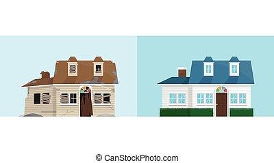 新的房子, 老, 被放棄, 革新