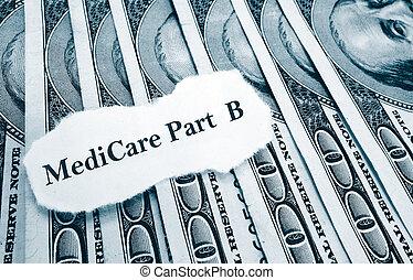 新聞, 醫療保險, b, 錢, 部份