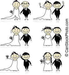 新郎, 你, 婚禮, -, 儀式, 一起, 設計, 新娘