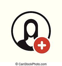 新, 人們, 積極, 徵候。, 增加, avatar, 圖象, 加上, 符號, 圖象