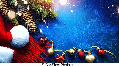 新, 賀卡, 背景, 聖誕節, 藝術, 歡樂, 年, 愉快