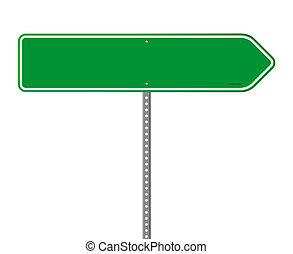 方向, 綠色, 空, 簽署